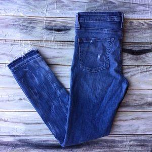 Pilcro and the letterpress raw hem jeans 29